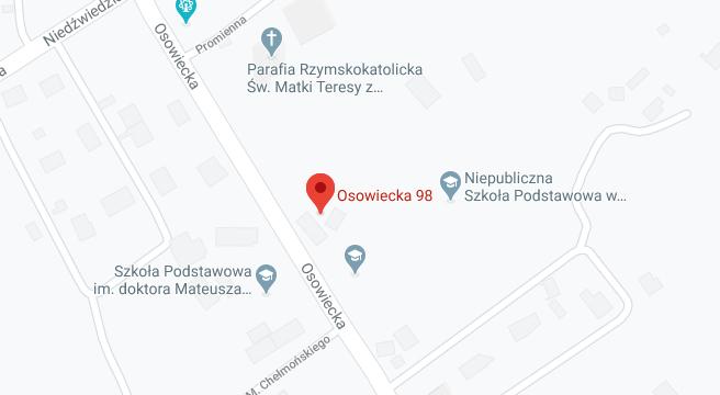 Mapa dojazdu do Przedszkola KAJTEK